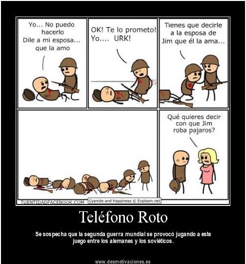 telefono roto LA IMPORTANCIA DEL PLAN DE COMUNICACIÓN